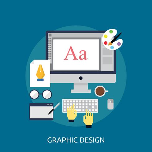 Grafikdesign konzeptionelle Abbildung Design vektor