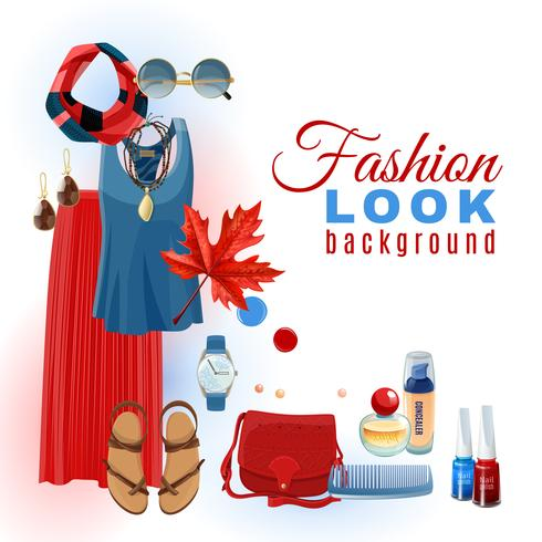 Fashion Look Hintergrund vektor