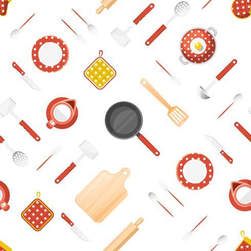Nahtloses Muster der Küchengeräte vektor