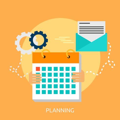 Planering Konceptuell illustration Design vektor