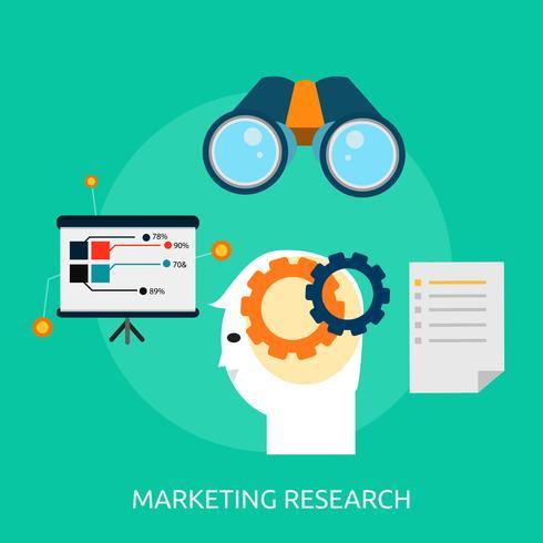 Marknadsföring Forskning Konceptuell illustration Design vektor