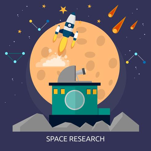Space Research Konceptuell illustration Design vektor