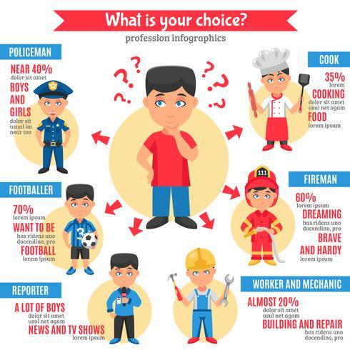 Berufe Kinder Infografiken vektor