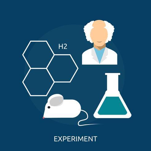 Experiment konzeptionelle Illustration Design vektor