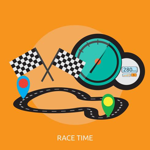 Race Time konzeptionelle Illustration Design vektor