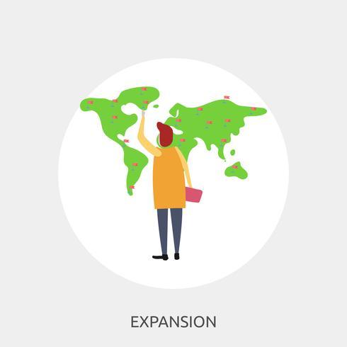 Expansion Konceptuell illustration Design vektor