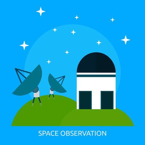 Weltraumbeobachtung konzeptionelle Darstellung Design vektor