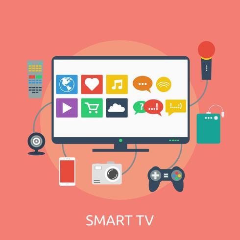 Intelligente Fernsehkonzeptionelle Illustration Design vektor