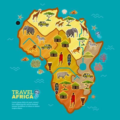 Resa Afrika Poster vektor