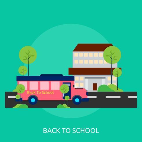 Tillbaka till skolan Konceptuell illustration Design vektor