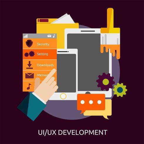 UI UX-Entwicklung Konzeptionelle Darstellung vektor