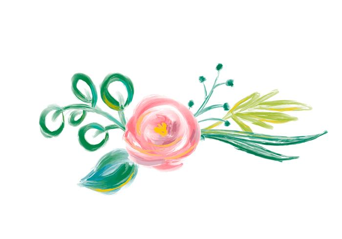 Gullig vår Akvarell Vector Blomma bukett. Konst isolerad illustration för bröllop eller semesterdesign, Handdragen färgrosor