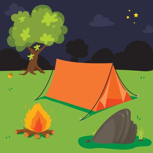 läger bakgrund vektor design