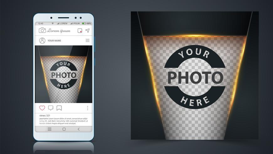 Social Media, Instagram Post Vorlage vektor