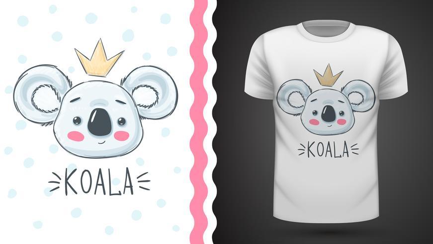 Gullig koala - idé för tryckt-shirt. vektor