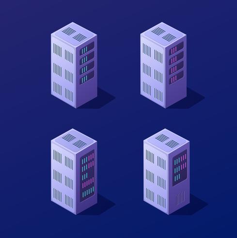 Isometrische 3D-Blockchain vektor