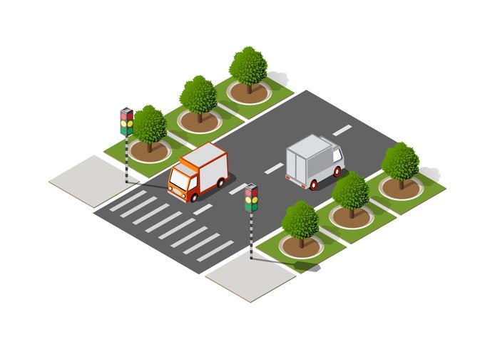 Highway City Street Road vektor