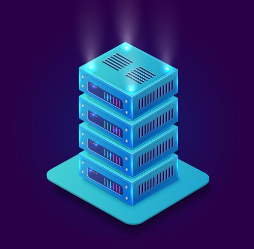 Isometrisk 3D blockchain vektor