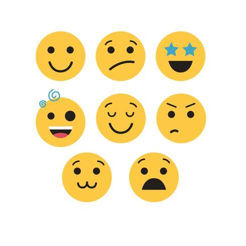 Emojis Vektor gesetzt