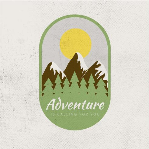 Outdoor-Abenteuer-Logo vektor