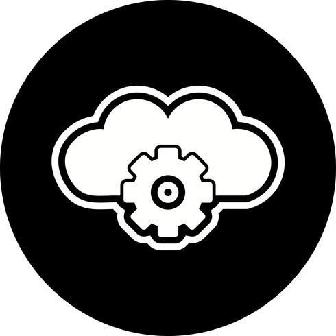 Cloud-Einstellungs-Ikonendesign vektor