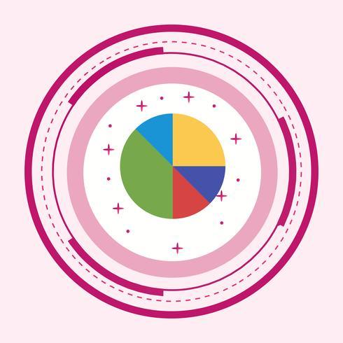 Kreisdiagramm-Ikonendesign vektor