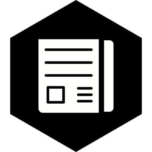 Nachrichtenpapier-Ikonendesign vektor