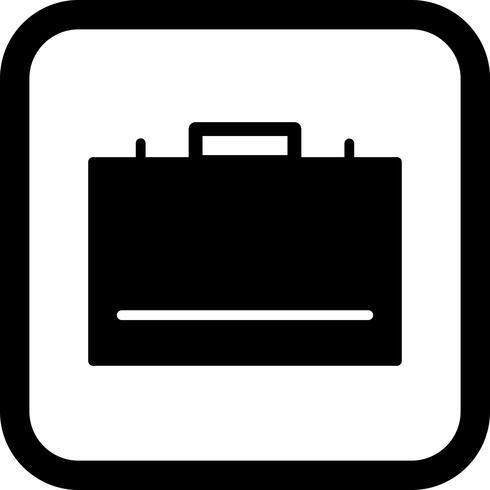Aktenkoffer-Icon-Design vektor