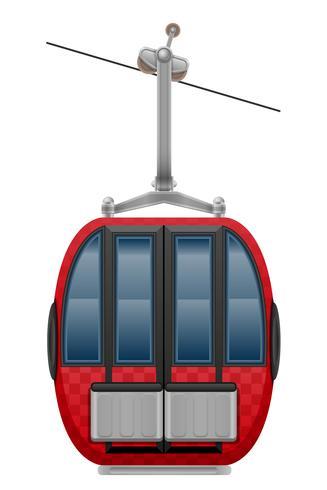 Kabinen-Skilift-Vektor-Illustration vektor