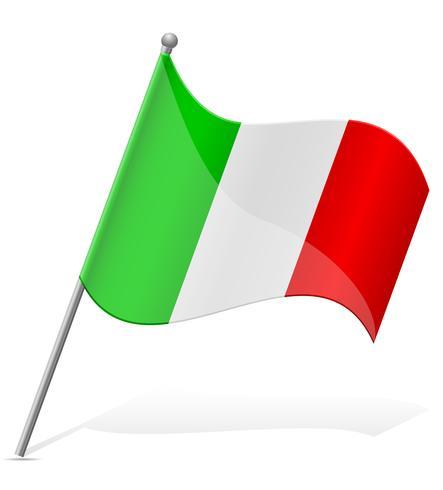Italien flagga vektor illustration