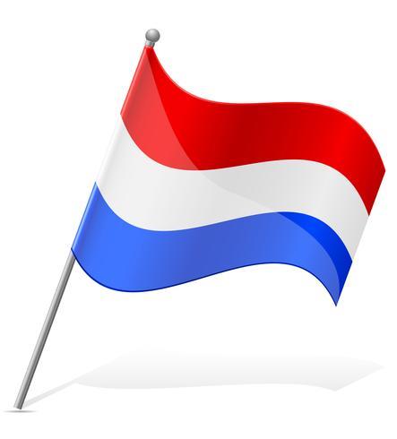 Flagge der holländischen Vektor-Illustration vektor