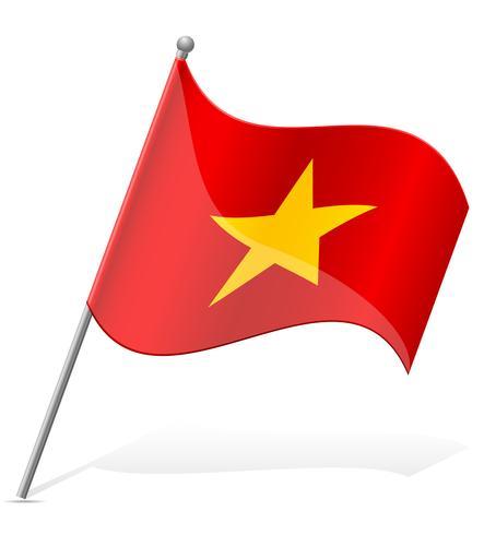 Vietnam flagg vektor illustration