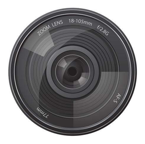 lins fotokamera vektor illustration