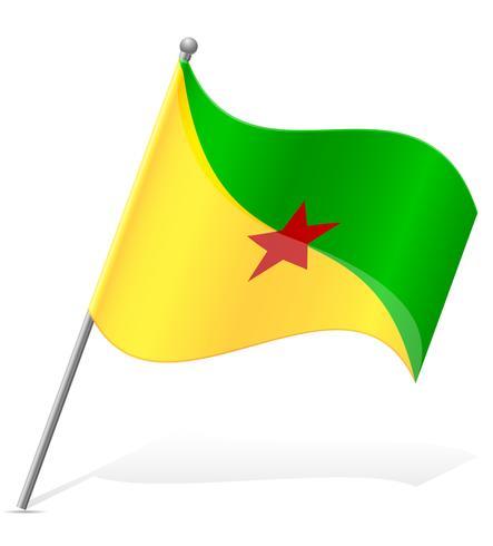 Flagge der Französisch-Guayana-Vektorillustration vektor