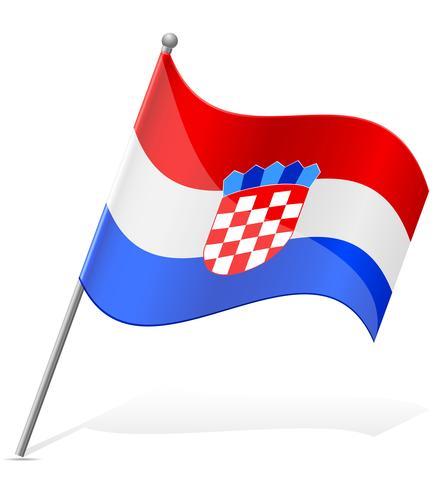 flagga av Kroatien vektor illustration