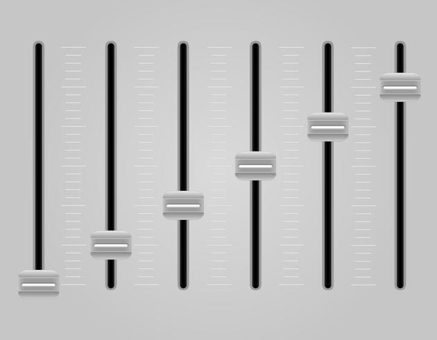 Panel-Konsole-Sound-Mixer-Vektor-Illustration vektor