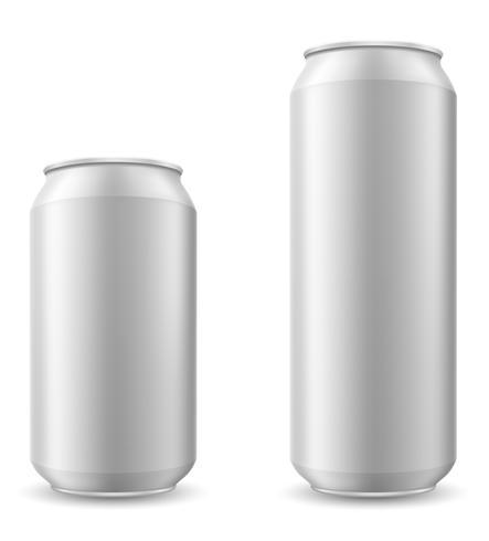Dose Bier-Vektor-Illustration vektor