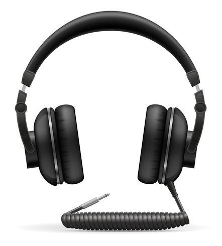 akustisk hörlurar vektor illustration