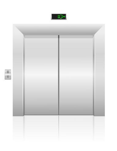 passagerare hiss lager vektor illustration