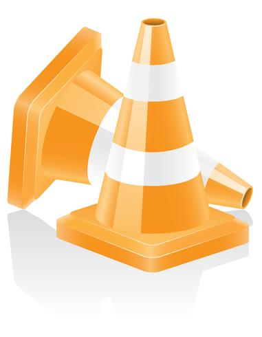 Symbol Verkehrshütchen Vektor-Illustration vektor