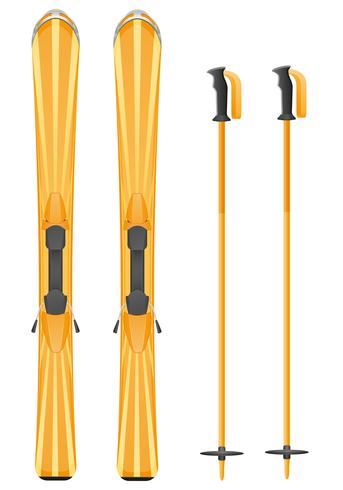 orange Skibergvektorillustration vektor