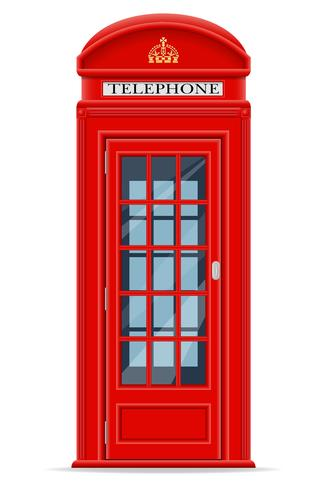 London röd telefon booth vektor illustration