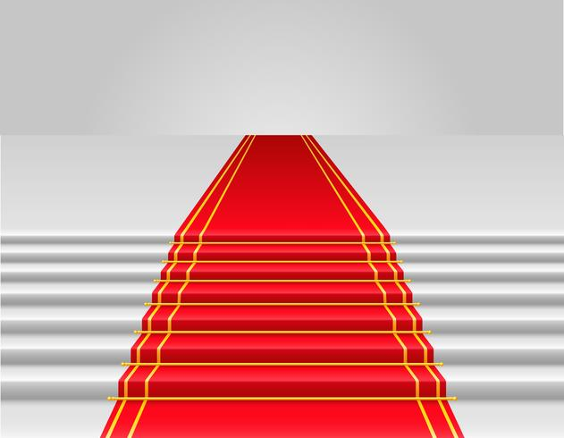 Vektorillustration des roten Teppichs vektor