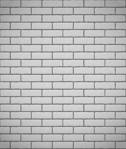 vägg av vit tegel sömlös bakgrund vektor