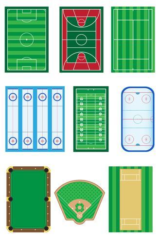 Felder für Sportspiele-Vektorillustration vektor