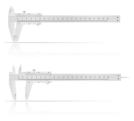 Metallmessschieber für genaue Messungsvektorillustration vektor