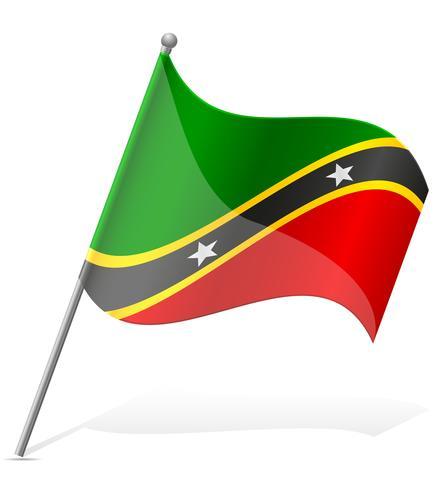 Flagge der St. Kitts und Nevis-Vektorillustration vektor