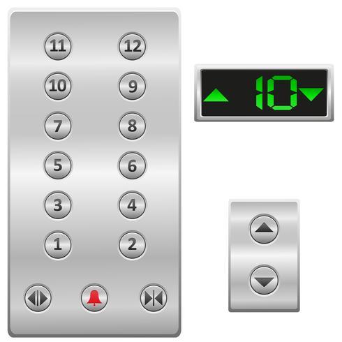 hiss knappar panel vektor illustration