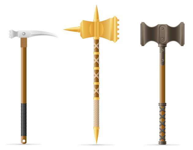 Mittelalterliche Vektorillustration des Kampfhammers vektor
