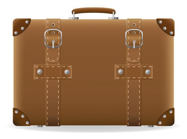 alter Koffer für Reisevektorillustration vektor